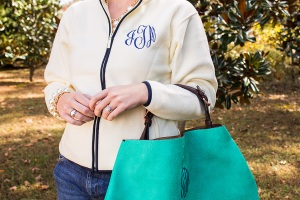 Cream-Color-With-Navy-Piping-and-Jade-Purse-2