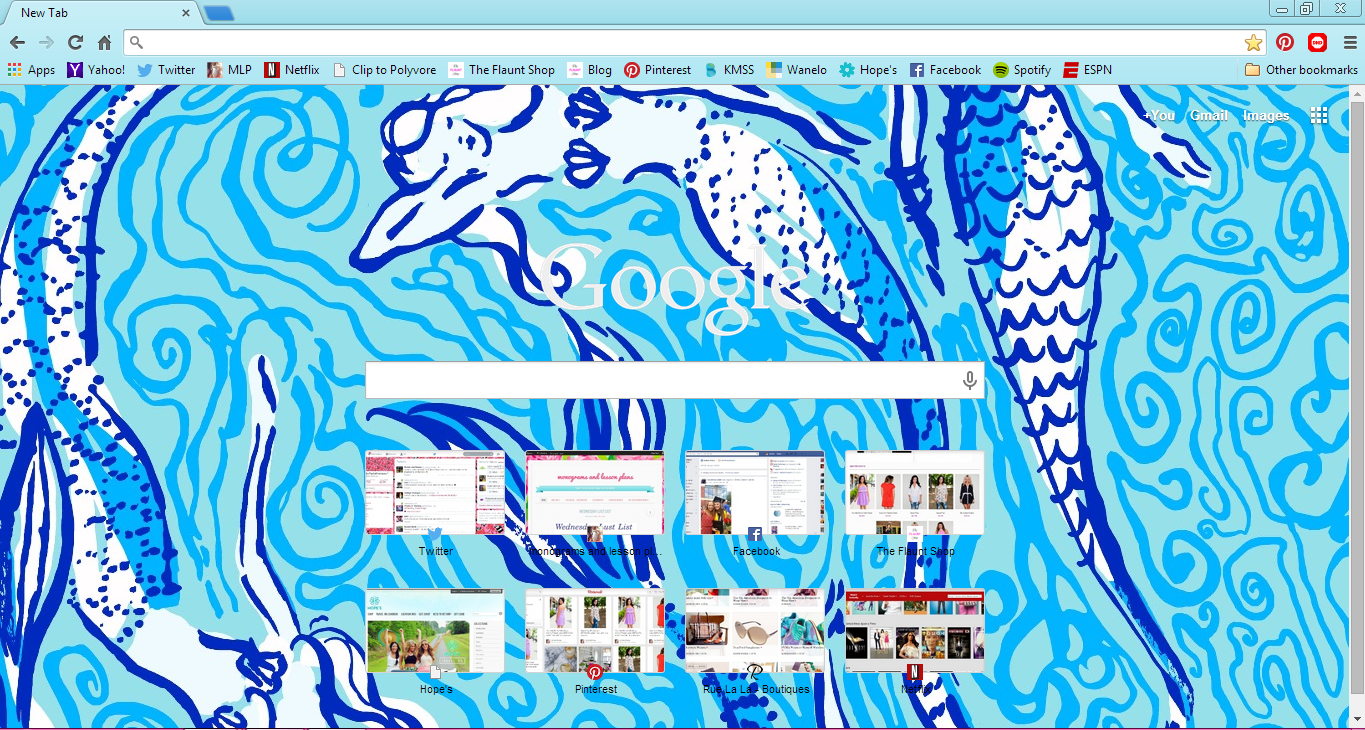 Google chrome themes yahoo