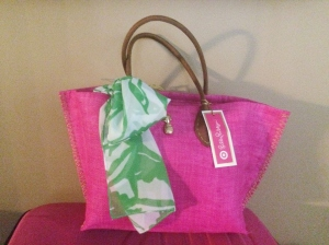 Lilly Pulitzer for Target Raffia Tote Bag - Boom Boom
