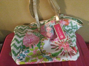 Lilly Pulitzer for Target Canvas Shopping Tote - Nosie Posie and Belladonna