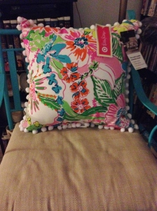 Lilly for Target pillow in Nosie Posey