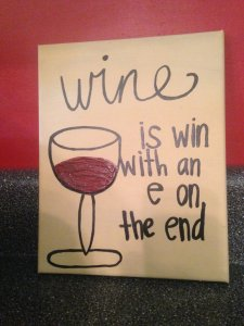 Wine Canvas from SimplyFabs
