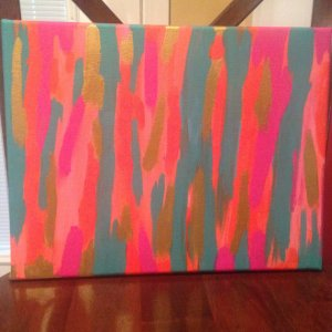 Painted canvas from SimplyFabs